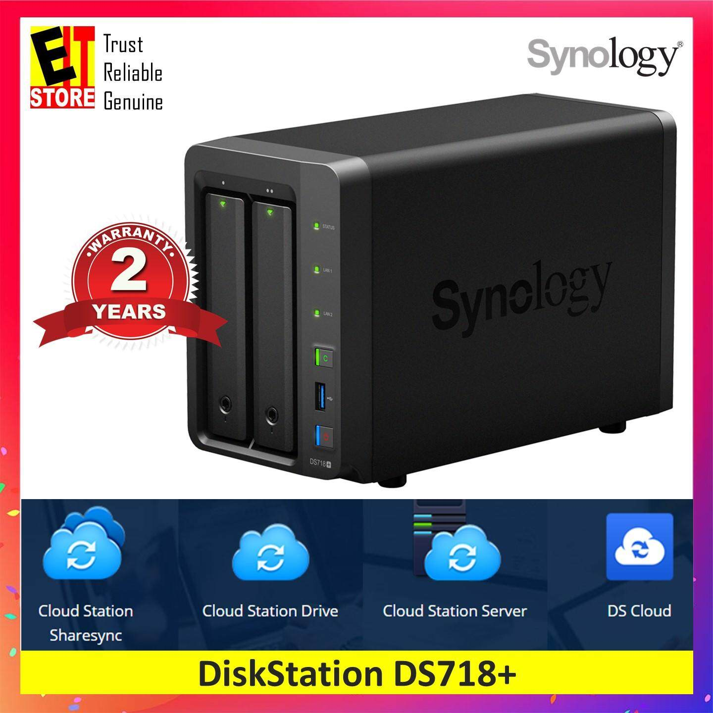 Synology Diskstation Ds718+ 2gb Ddr3l High Performance Nas Optimized For Intensive Workloads By Eit Store.