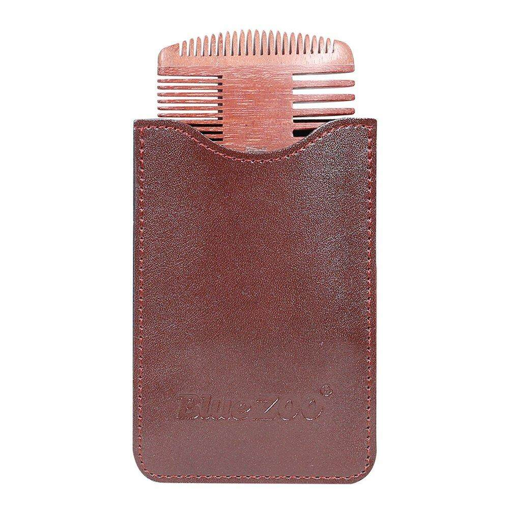 Hot Sales Care For Red Sandalwood Double-sided Comb Beard Comb Portable Man Care