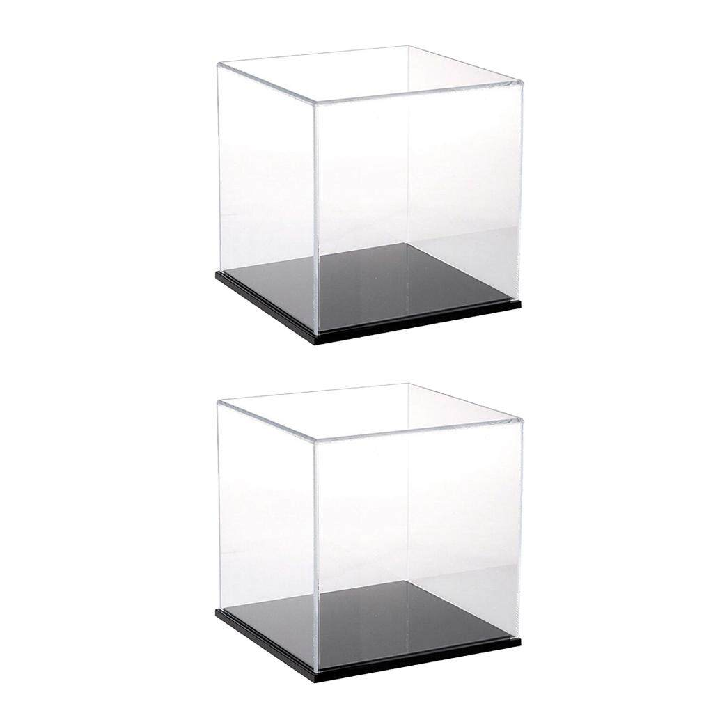 BolehDeals 2Pcs Clear Acrylic Display Case Show Box 8cm for Amiibo Funko POP Figure Toy