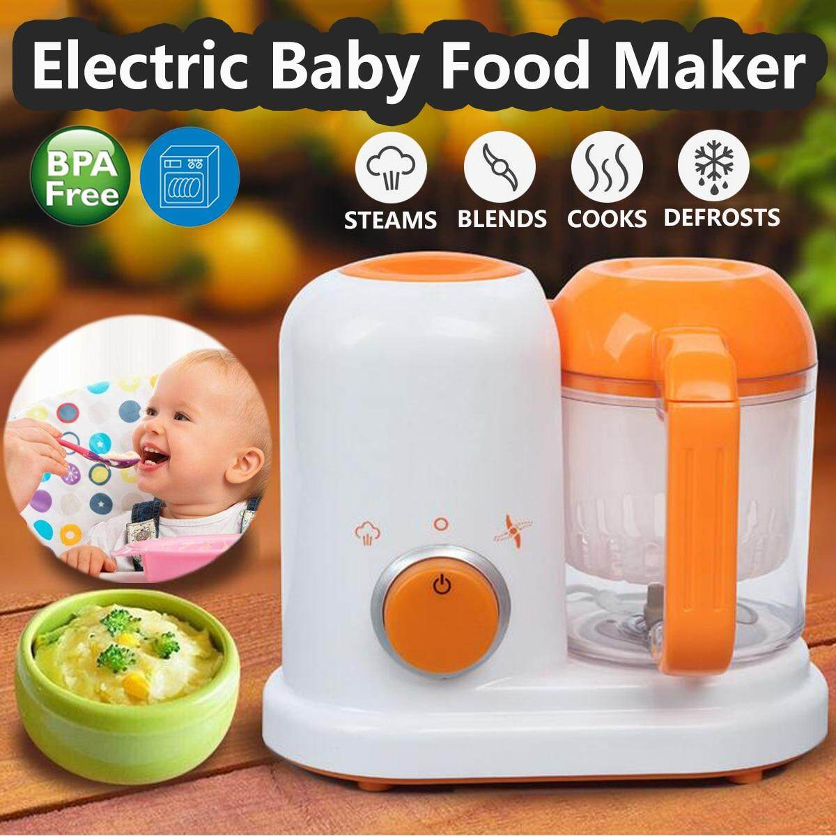 Electric Baby Food Maker All In One Toddler Blenders Steamer Processor BPA Free Food-Graded PP EU AC 200-250V Steam Food Safe image on snachetto.com