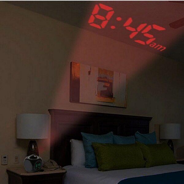 Nơi bán Chiếu Đồng Hồ Báo Thức, Chức Năng Đàm Thoại LCD Kỹ Thuật Số, Hiển Thị Báo Thức/Báo Lại/Nhiệt Độ, Đèn LED Chiếu Tường/Trần Với Các Chế Độ Thời Gian Khác Nhau 12 Giờ/24 Giờ