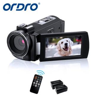 ORDRO Máy Quay Video AE7 2.7K, Máy Ghi Hình Kỹ Thuật Số Cảm Biến CMOS 48MP 30 Khung Hình Giây Nhìn Ban Đêm Hồng Ngoại Full HD Với 2 Pin Và Điều Khiển Từ Xa thumbnail