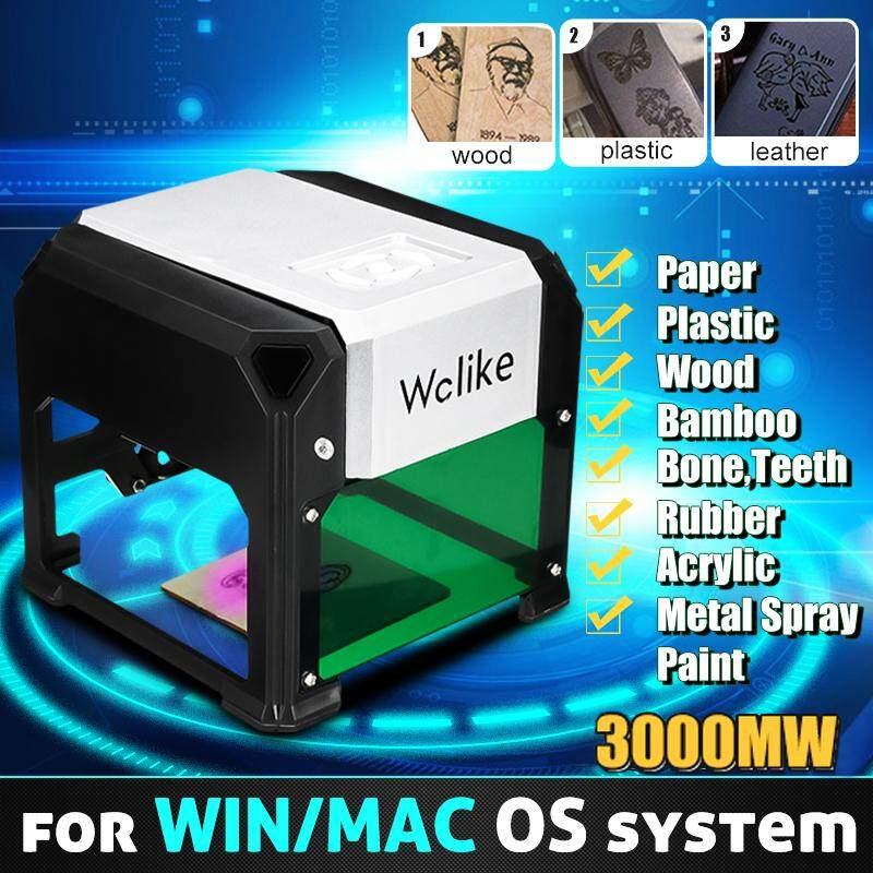 【Free Shipping + Super Deal + Limited Offer】Wolike 3000MW Desktop Laser Engraving Machine Logo Marking for WIN/Mac OS System