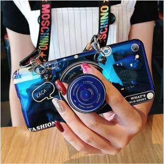 สำหรับ Samsung Galaxy A30/A20 3D กล้องพร้อมสายคล้องสายคล้องผู้ถือ Smooth TPU กันกระแทกฝาหลัง-