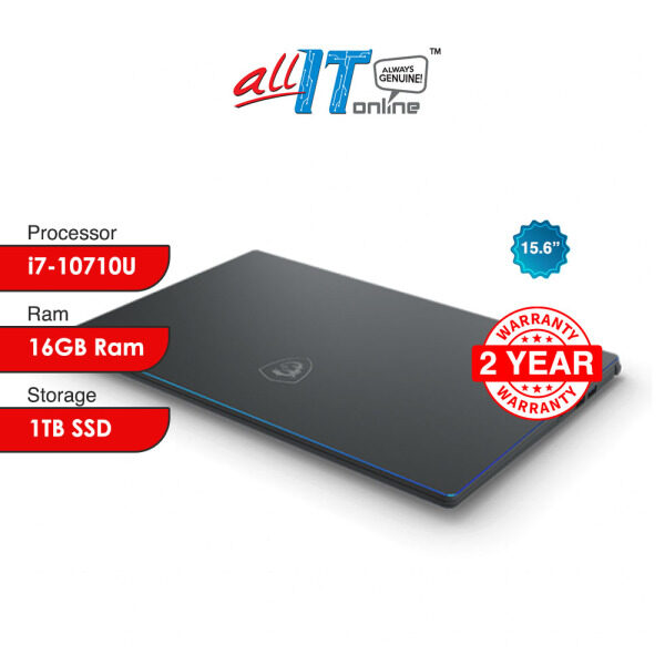 MSI Prestige 15 A10SC-415 15.6 Carbon Gray (i7-10710U/16GB/1TB SSD/GTX1650/W10H) Malaysia