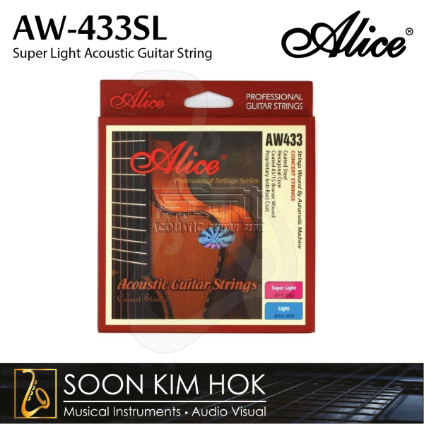 ALICE AW-433SL Super Light Acoustic Guitar String (.011 / .015 / .024 / .032 / .042 / .052) (AW433SL) Malaysia