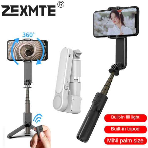 Bộ Ổn Định Gimbal Cầm Tay Zexmte Chân Máy Bluetooth, Vlog Máy Quay Cân Bằng Video Với Gậy Selfie Không Dây, Dành Cho Điện Thoại Thông Minh IOS Android