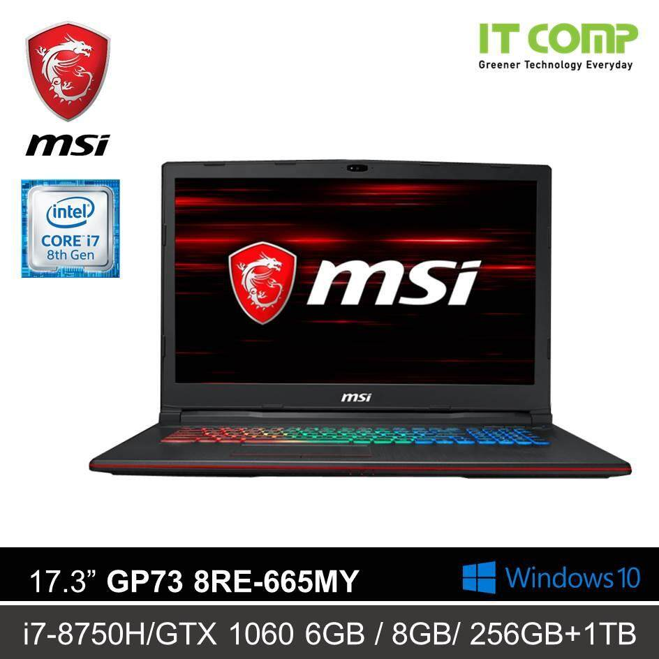 MSI GP73 8RE-665MY 17.3˝ GAMING LAPTOP (i7-8750H/GTX1060 6GB/ 8GB/ 256GB SSD +1T HDD/WIN 10) Malaysia