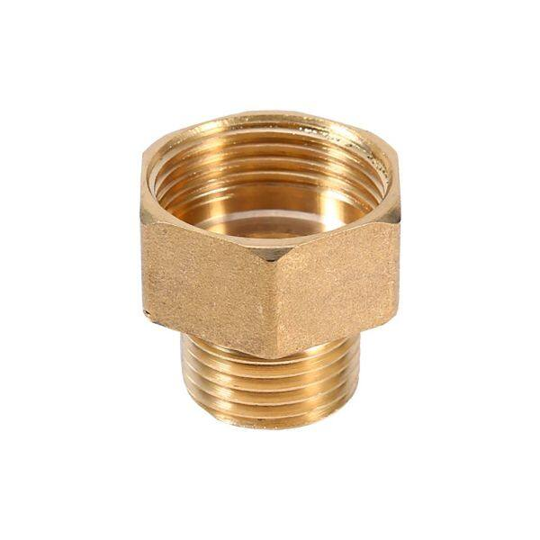 1pc Brass Water Pipe Pipe Fitting Hex Pipe Connector Bushing Reducer Adapter 1/2BSPT Reducer Male and 3/4BSPT Female Thread