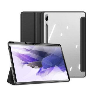Bao Da, Cho Samsung Galaxy Tab SM-T730 S7 FE 12.4 2021 SM-T736B Samsung Galaxy Tab S7 Plus 12.4 2020 SM-T970 SM-T976B Đánh Thức Giấc Ngủ Thông Minh Với Hộp Đựng Bút Chì Giá Đỡ Gấp Ba Mặt Sau Trong Suốt thumbnail