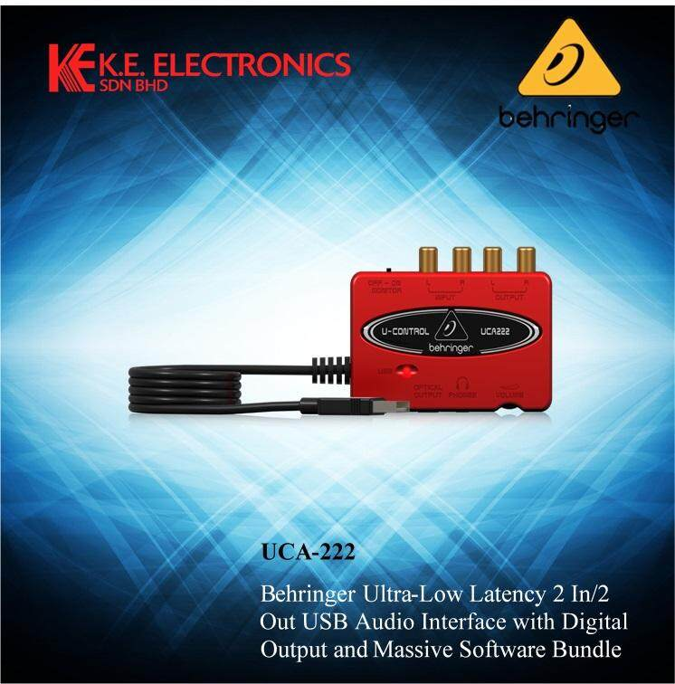 Behringer UCA222 U-Control Ultra-Low Latency 2 In//2 Out USB Audio Interface