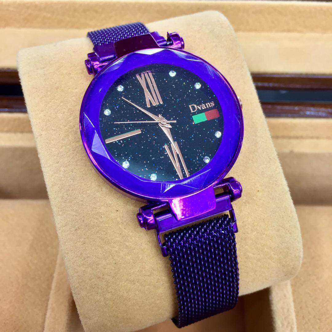 SPECIAL PROMOTION DVANS ANALOG STAINLESS STEEL MAGNET WATCH FOR WOMENS Malaysia