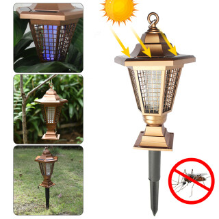 Đèn LED Chạy Bằng Năng Lượng Mặt Trời Ngoài Trời UV Muỗi Đèn Đa Chức Năng Chiếu Sáng Sân Đèn Bẫy Côn Trùng Bọ Ruồi Muỗi Đèn Ngủ LED Ngoài Trời thumbnail