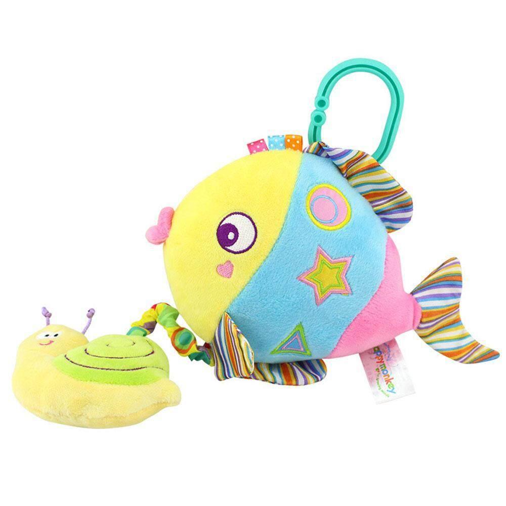 Goodgreat น่ารักรถเข็นเด็กแขวน Crib ดึง Bell ของเล่นดนตรี, Baby Soft Rattle Crinkle ของเล่นบีบมีเสียง - รูปร่างสัตว์ที่มีสีสันของเล่นสำหรับเตียงนอนเด็ก Bassinet By Good&great.