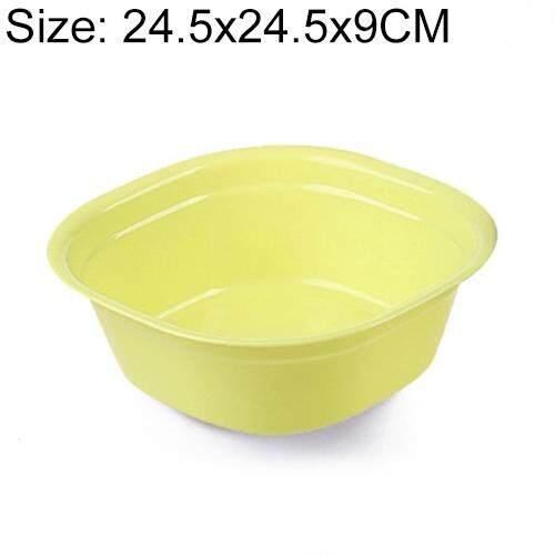 Household Square Thickening Plastic Washbowl Kitchen Bathroom Washing Basin, Size: 24.5cm x 24.5cm x 9cm (Pink)