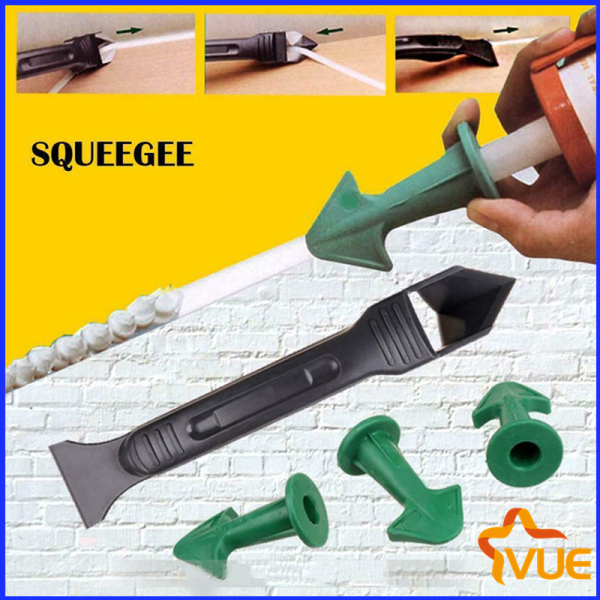 Vue-3 in 1 Silicone Caulking Finisher Tool Nozzle Spatulas Filler Spreader Tool