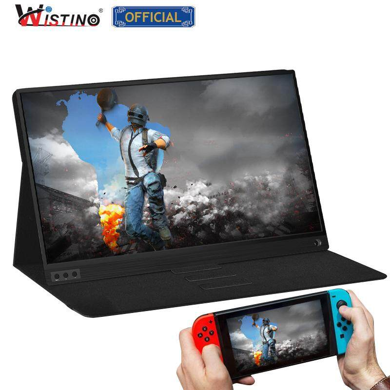 Wistino thin portable lcd hd monitor 15.6 usb type c hdmi for laptop,phone,xbox,switch and ps4 portable lcd gaming monitor