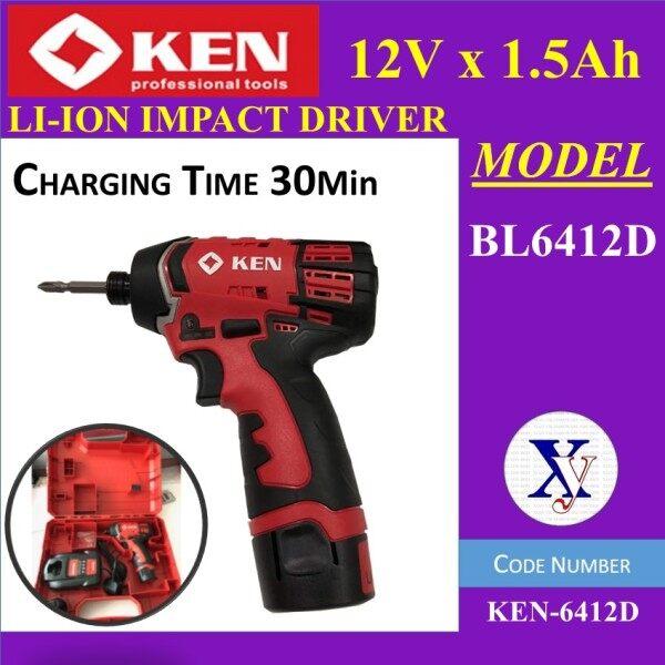 12V Ken BL6412D Lithium Cordless Impact Driver