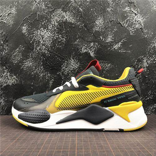 20fcd956e42 Puma Original RS-X Reinvention Yellow MENS Sports Sneakers Shoes Discounted