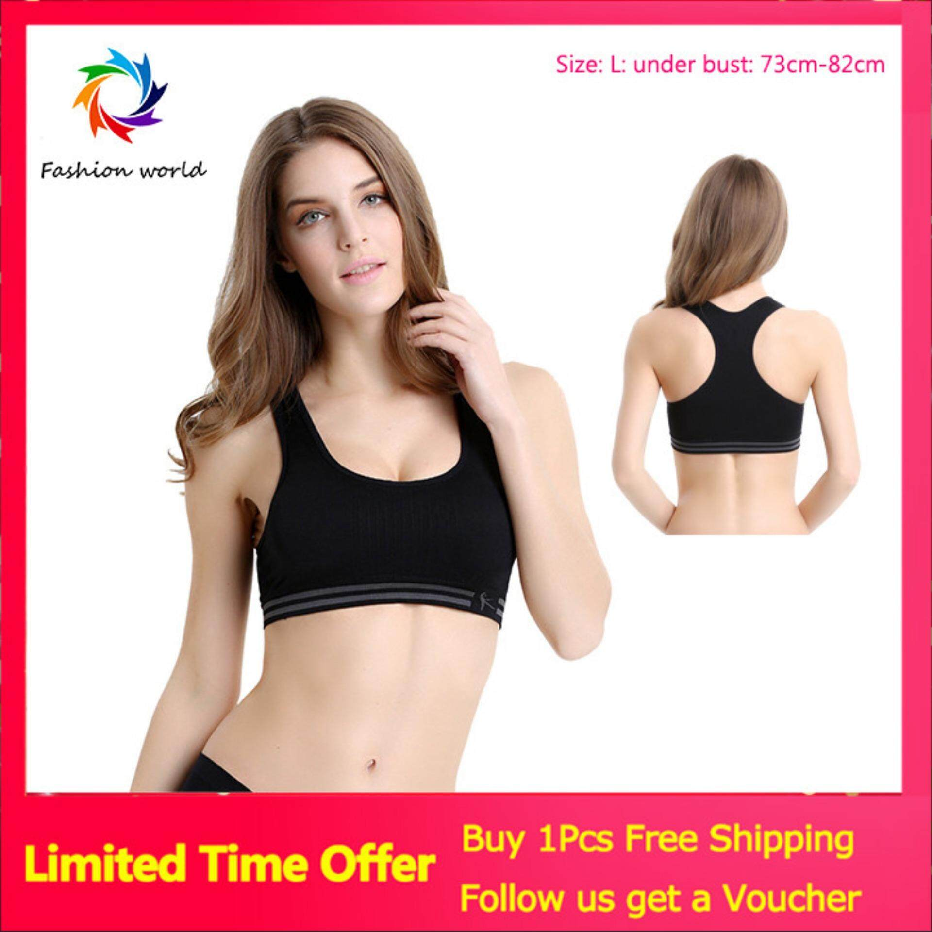 b3d1e6b6e16 【Global+Express+Delivery+Free+shipping】Women Seamless Racerback Sports Bra  Top Yoga Fitness Padded Stretch Workout Black (MY)
