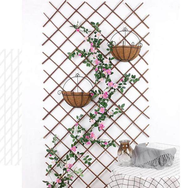 Wooden Fence Durable Retractable Plant Climbing Frame Trellis Flower Decoration Stand