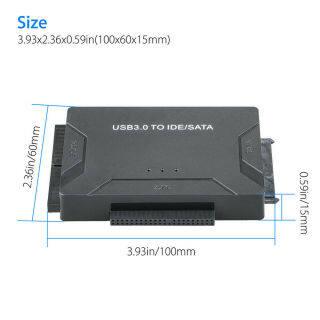 Bộ Chuyển Đổi USB 3.0 Sang IDE & SATA Bộ Chuyển Đổi Ổ Cứng Gắn Ngoài, Cáp 2.5 3.5 thumbnail