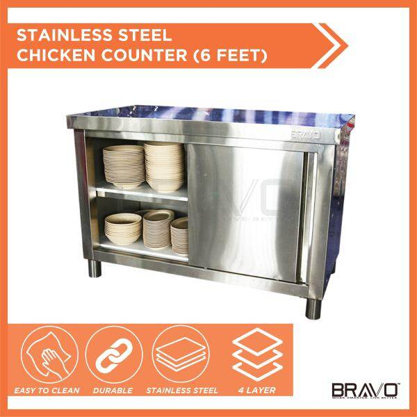 BRAVO [BIG] Stainless Steel DIY Cabinet Storage Kitchen Equipment With Sliding Door Very Strong and Sturdy