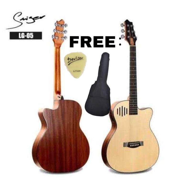 NEW DESIGN🔥🔥 SMIGER ACOUSTIC GUITAR LG-05 40INCH+FEEE BAG+FREE PICK+FREE CAPO Malaysia