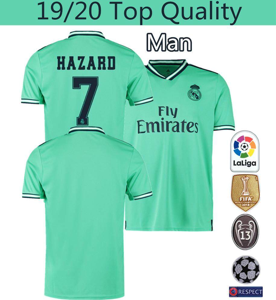 finest selection 18388 2d709 Top Quality 19/20 Real Madrid Third Football Jersey Sergio Ramos 4 Hazard 7  Modric 10