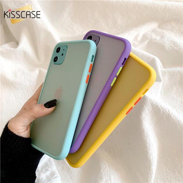 Giá Ốp Điện Thoại KISSCASE Dành Cho iPhone, Ốp Lưng Điện Thoại Cứng PC Nhám Thời Trang Chống Sốc Cho iPhone 11 Pro Max 11 Pro XS XR 8 7 Plus 6SPlus