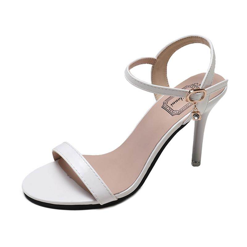 93b97920c749 Open Toe Womens Heel Sandals Fashion Straps Sandals Women Pumps High Heels  Shoes White