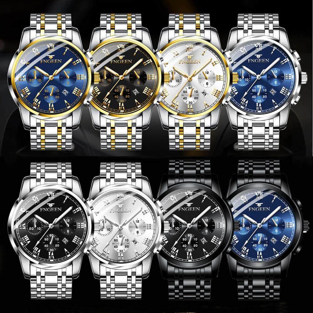 Fashion Mens Stainless Steel Luxury Military Army Analog Quartz Wrist Watch Malaysia