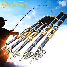Sougayilang Telescopic Fishing Rod 2.1M-3.6M Sợi Carbon Trout Cá Chép Xách Tay Spinning Fishing Cực Lure Fishing Rod Giải Quyết