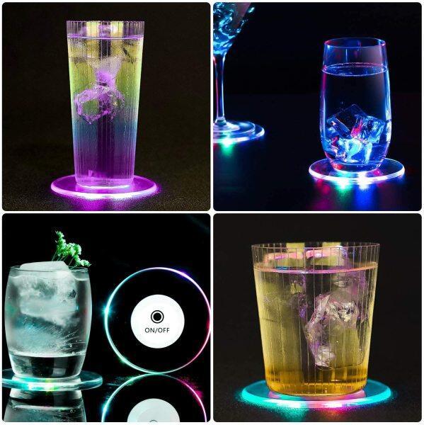 Bảng giá Đế Lót Ly LED Sạc Được 3 Cái Cho Đồ Uống, Đế Lót Ly Phát Sáng Đế Lót Ly Tròn Dùng Một Lần Bật/Tắt Cho Đồ Uống, Đế Lót Ly Acrylic Đế Lót Ly Có Đèn LED Nhiều Màu Sắc Cho Quán Bar Đám Cưới Tiệc Cocktail Bia