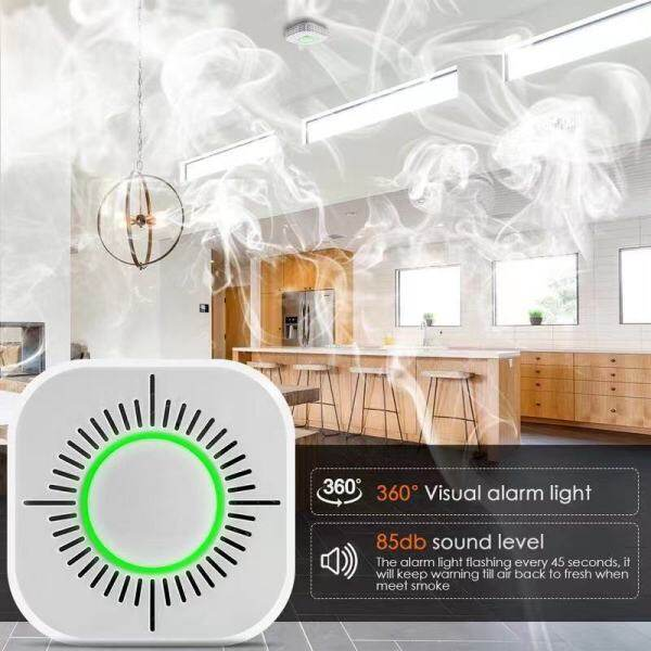 Smoke Detector Wireless 433MHz Fire Security Protection Alarm Sensor for Smart Home Office Automation