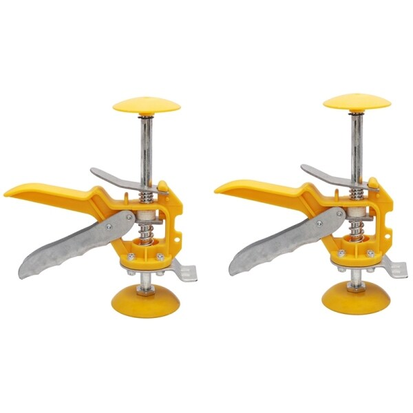 2PCS Auxiliary Tool for Tiling Tiles on the Wall to Level the Top Height of the Tile Riser Adjustment Locator