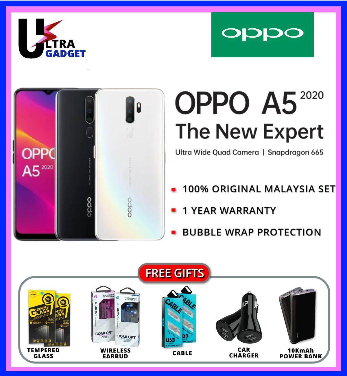 [12 12 Sale] OPPO A5 2020 ( 3+64GB ) Original Malaysia Set