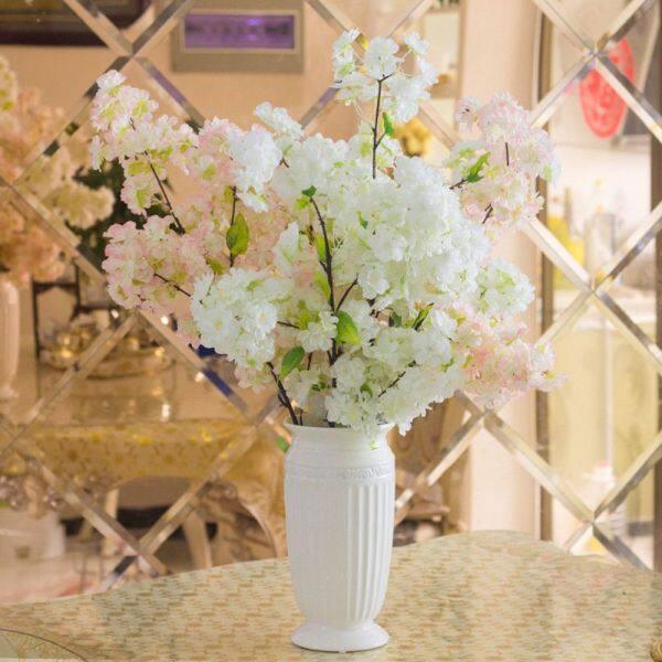 Bó Hoa 4 Cành Lụa Trang Trí Đám Cưới Hoa Anh Đào Nhân Tạo Hoa Giả Sakura Trang Trí Nhà