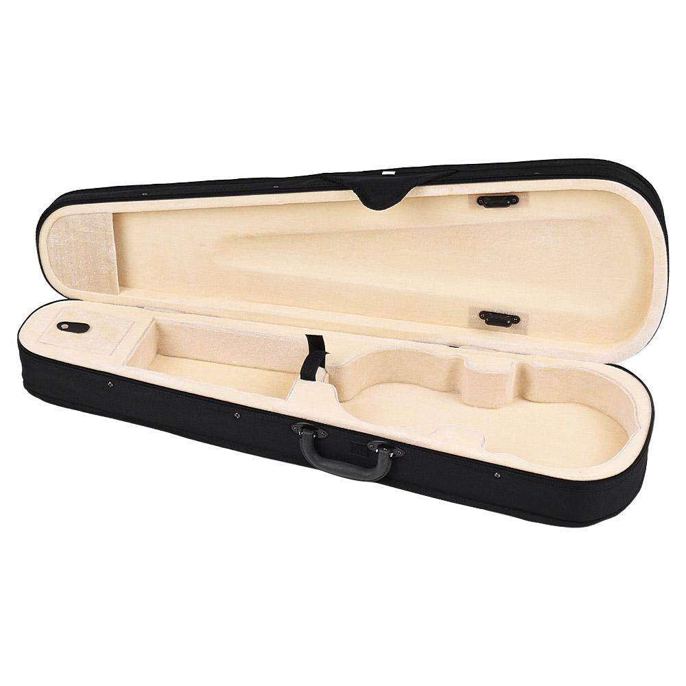 Professional 4/4 Full Size Violin Triangle Shape Case Box Hard & Super Light with Shoulder Straps Beige