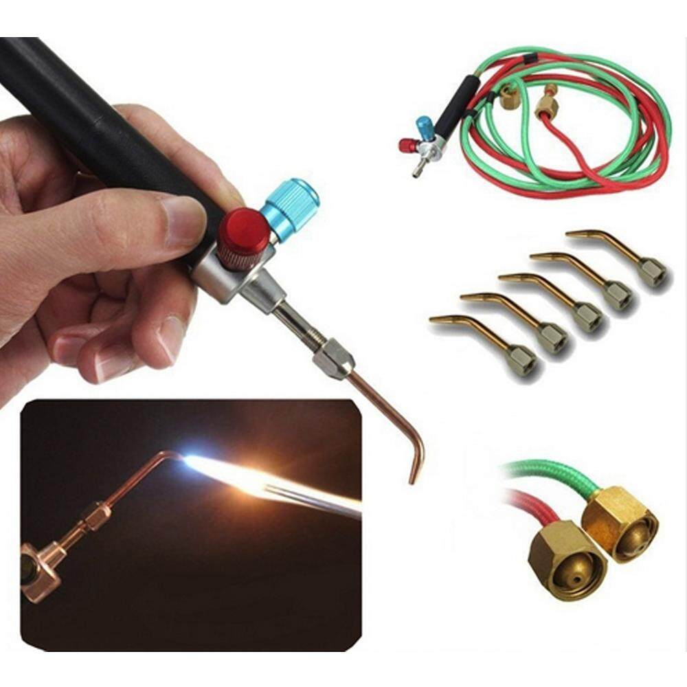 OEM Mini Gas Welding Torch for Oxygen & Acetylene with 5 Tips Used In Jewelry Tools and Dental Tools