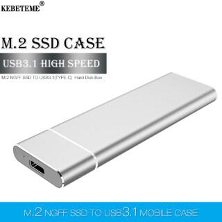 KEBETEME M2 SSD Trường Hợp, NGFF Bộ Chuyển Đổi SSD M.2 Sang USB Loại C 3.1 Cho Hộp Đĩa SSD 2230 2242 2260 2280 M.2 SSD Trường Hợp thumbnail