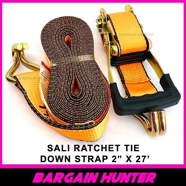 """BARGAIN HUNTER - SALI Heavy Duty Ratchet Tie Down Strap 2"""" x 27'"""