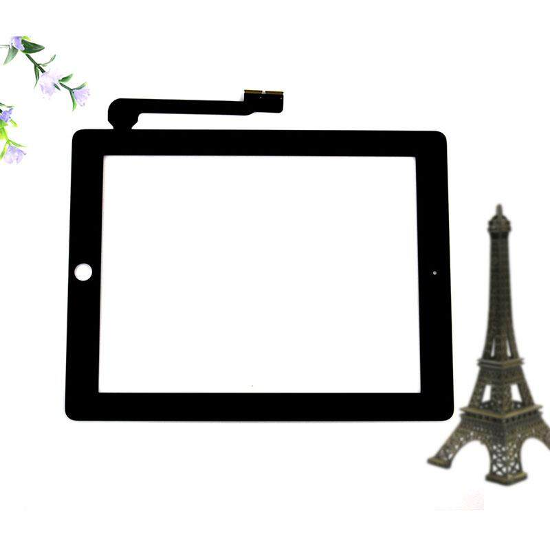 Yupt For iPad 3 4 Black Touch Screen Digitizer Front Glass Replacement Part  MZSK