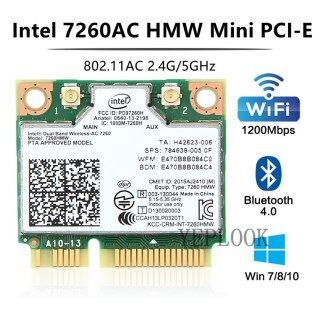 Wireless-AC 7260 Intel 7260HMW 7260AC Băng Tần Kép 2.4 & 5Ghz 1200Mbps 300M + 867Mbps 802.11ac A B G Bluetooth4.0 Thẻ Wifi Không Dây Mini PCI-E Wlan thumbnail