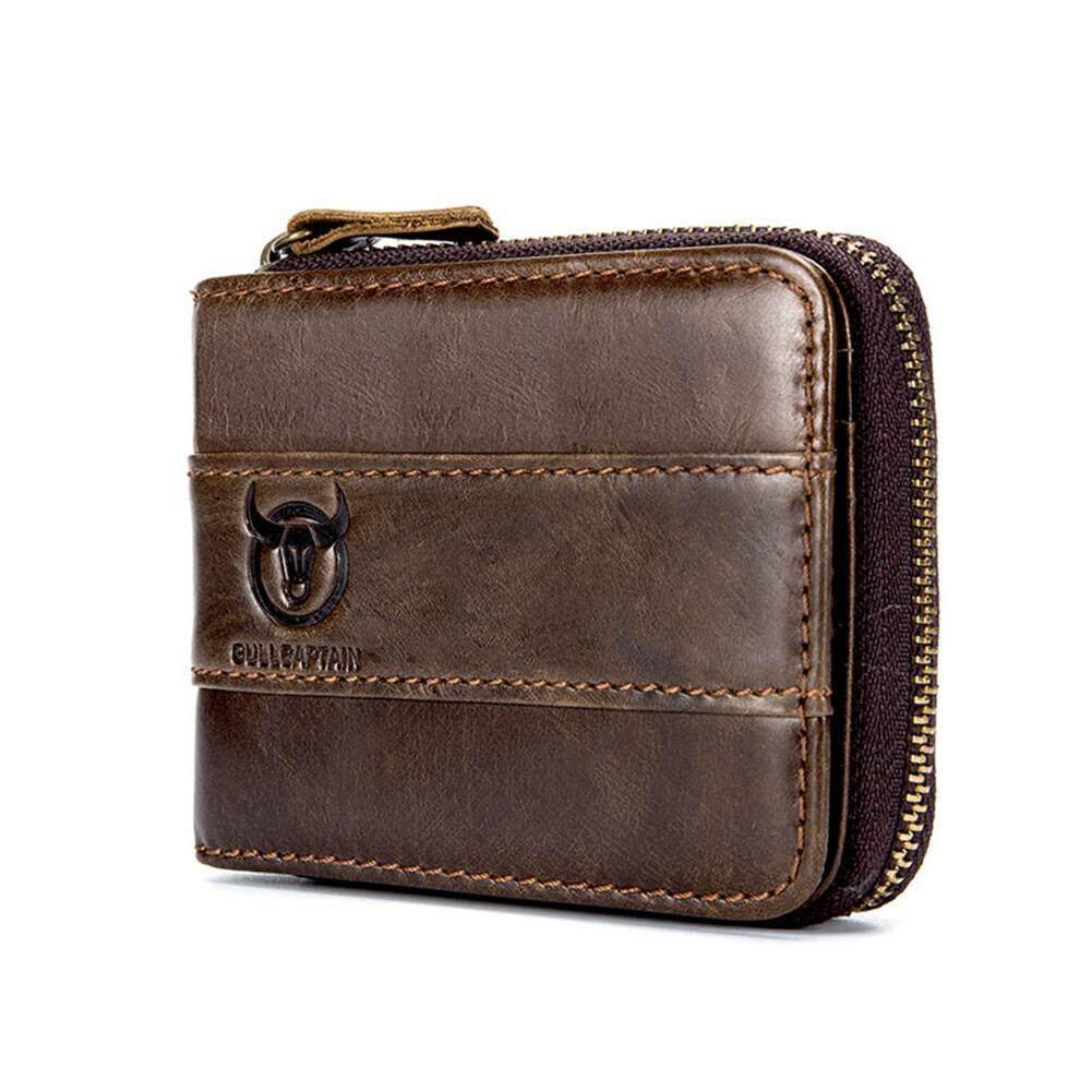 VA-Home Mens RFID Antimagnetic Vintage Leather Wallet Slots Coin Bag Holders Wallet Card Holder