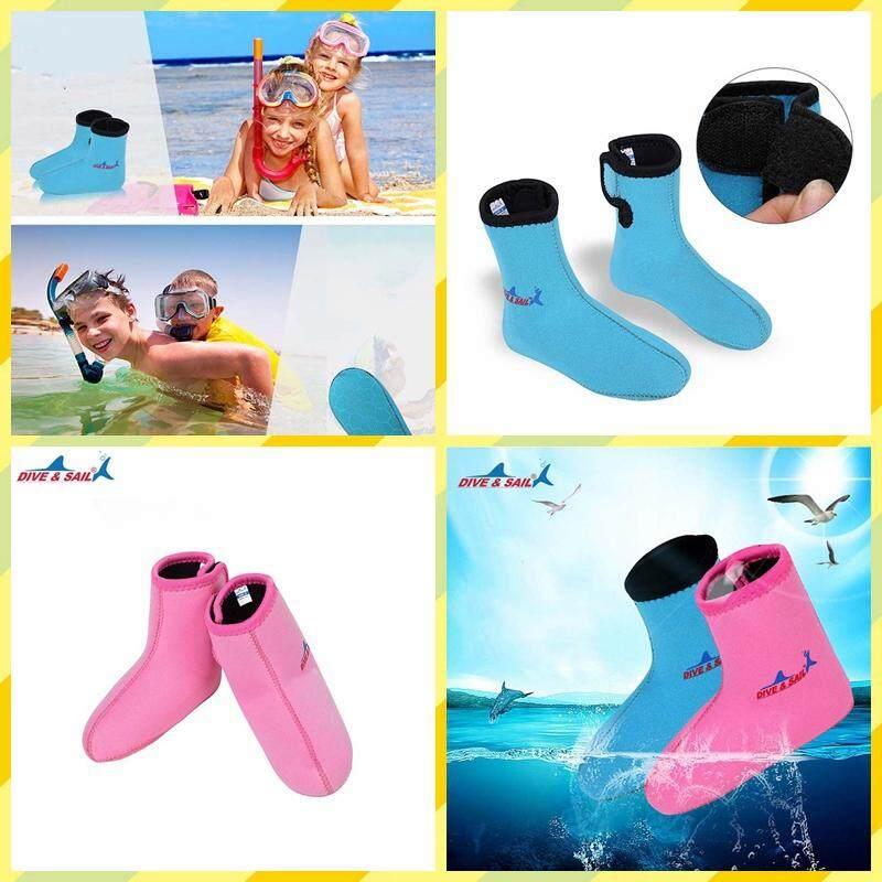 Children 3mm Diving Socks Non-Slip Surfing Snorkeling Socks Kids Beach Shoes By Hangzhou Nuotu.