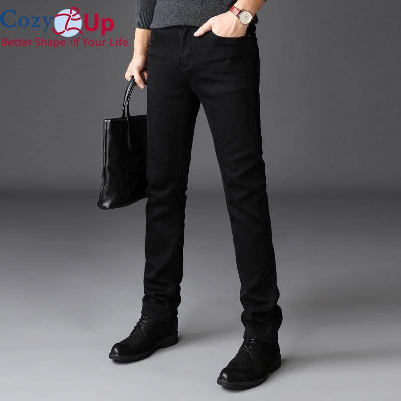 Cozy Up Jeans Trousers Men Black