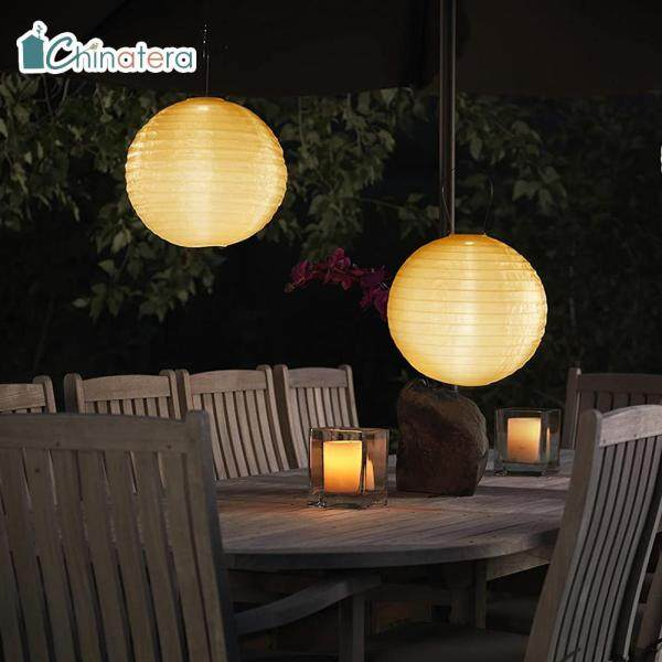 Đèn Lồng Trung Hoa LED Năng Lượng Mặt Trời 2/4 Chiếc, Đèn Treo Hình Tròn Chống Thấm Nước, Dùng Ngoài Trời, Sân Vườn, Đám Cưới, Ngày Lễ, Chinatera