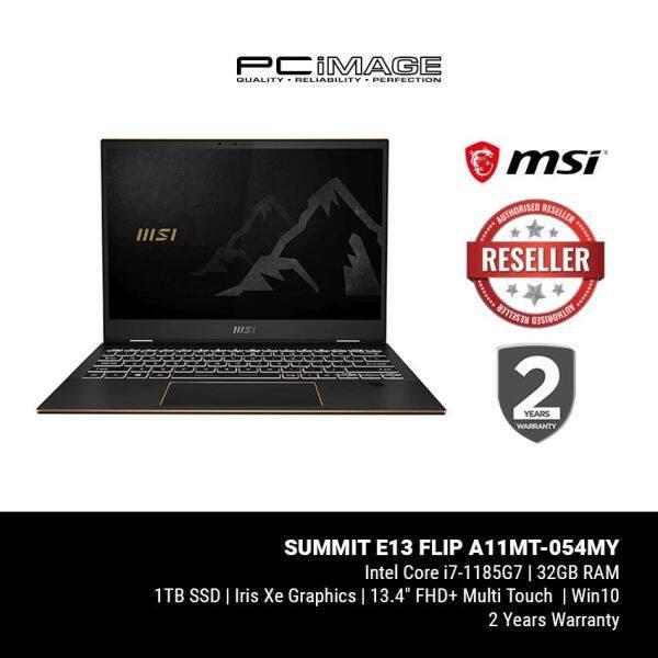 MSI Summit E13 Flip A11MT-054MY 13.4 120Hz Touchscreen Laptop (i7-1185G7, 32GB, 1TB, IrisXe, Win10) Malaysia