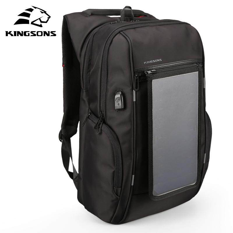 Kingsons Solar Panel Backpacks 15.6 Inches Convenience Charging Laptop Bags For Travel Solar Charger Daypacks By Benefitwen.